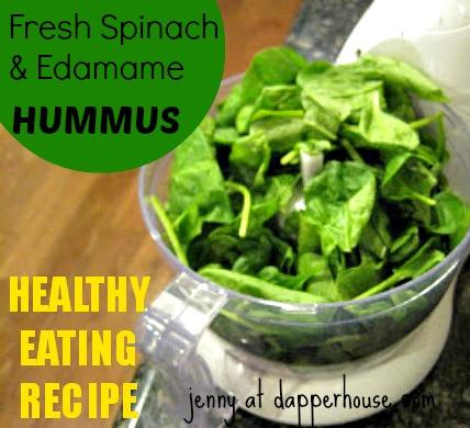 eating healthy recipe spinach edamame  hummus @dapperhouse