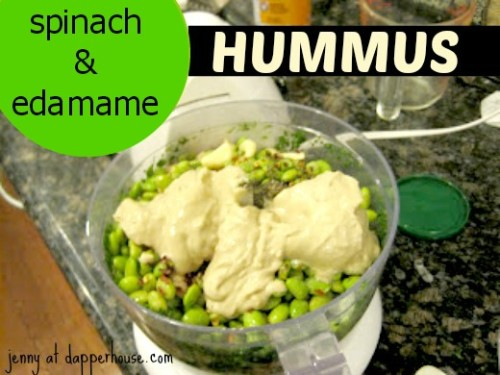 #edamame #spinach #recipe #hummus