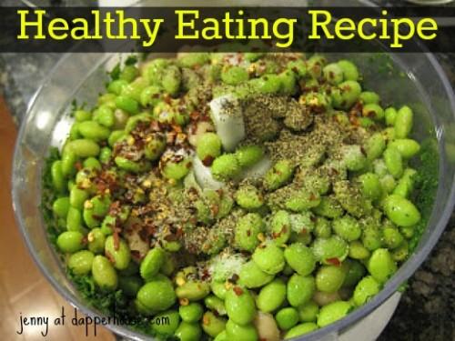 healthy eating recipe edamame spinach hummus @dapperhouse