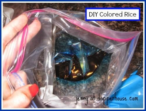 #tutorial #fast #easy #DIY #rice colored sensory bin #art