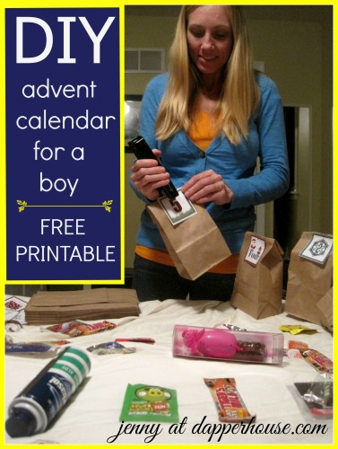 #advent #calendar #printable #free #December #DIY gift a day