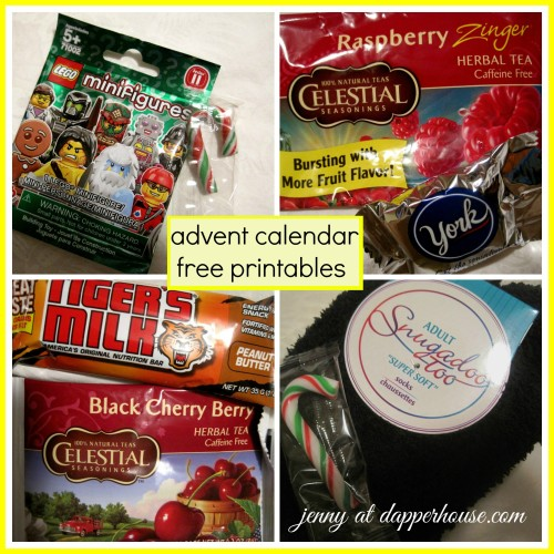 #advent #calendar #printable #free #December collage treats gifts