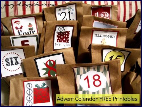 diy advent calendar ideas for tween boys free printables. Black Bedroom Furniture Sets. Home Design Ideas