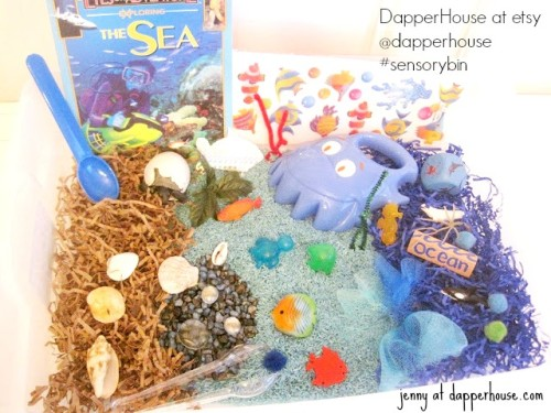 #sensorybin #autism #gifted @dapperhouse #ocean #sea theme early childhood