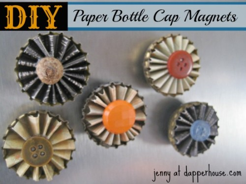 #DIY #paper #scrapbook #floral #buttons #magnet #fridge #gift #hostess #teacher @dapperhouse 1