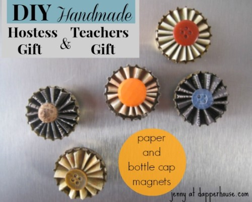 #DIY #paper #scrapbook #floral #buttons #magnet #fridge #gift #hostess #teacher @dapperhouse 2
