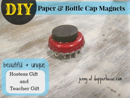 #DIY #paper #scrapbook #floral #buttons #magnet #fridge #gift #hostess #teacher @dapperhouse 3