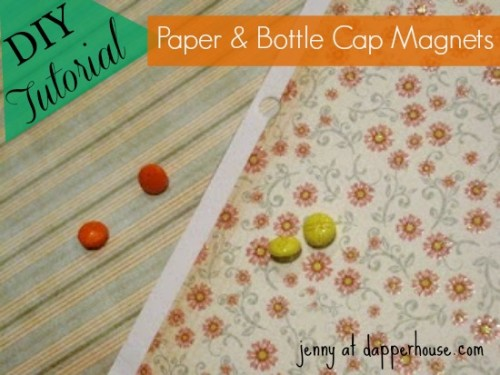 #DIY #paper #scrapbook #floral #buttons #magnet #fridge #gift #hostess #teacher @dapperhouse 4