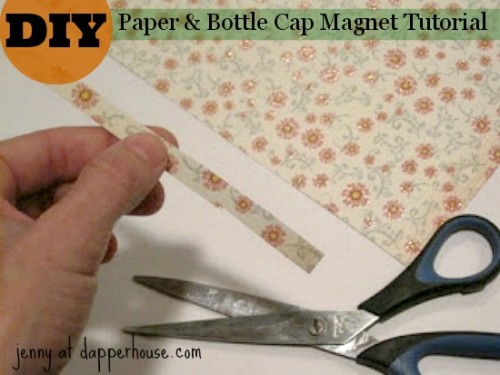 #DIY #paper #scrapbook #floral #buttons #magnet #fridge #gift #hostess #teacher @dapperhouse 6