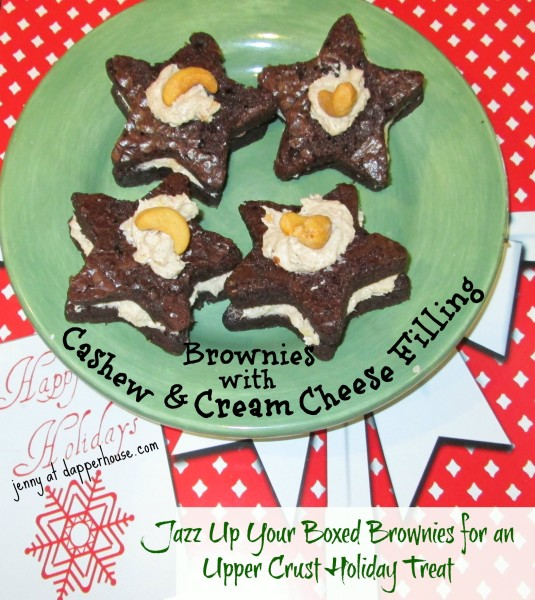 Jazz up your boxed brownies for a festive treat cashew #creamcheese