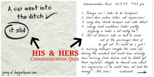 #couples #communication #quiz @dapperhouse #his #hers #dating #marriage #funny #humor