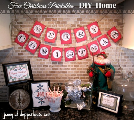 photo regarding Merry Christmas Banner Printable named Do-it-yourself Absolutely free Printables Merry Xmas Banner and Shots Information