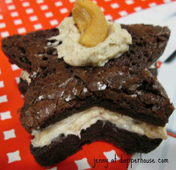 recipe for brownies from a box with cashews and cream cheese @dapperhouse fast and easy