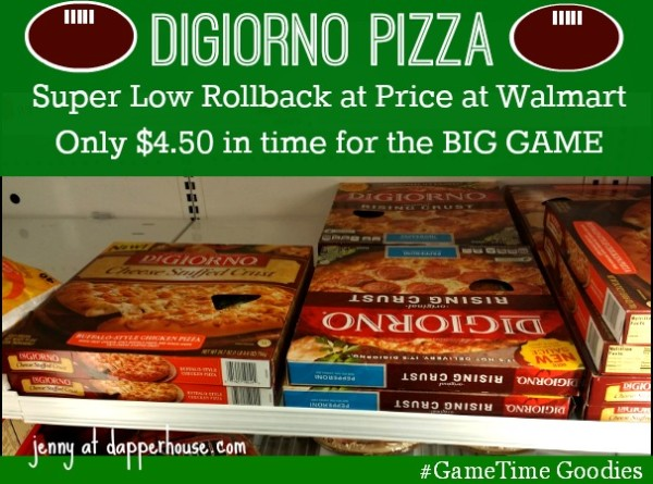 DiGiorno Pizza on Rollback Price at Walmart for $4.50 for #GameTimeGoodies #walmart #shop #cbias