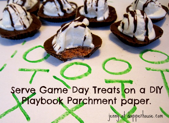 Game Day the Big Game Serve on a Playbook parchment paper for easy clean up  @dapperhouse #thatnewcrush #shop #cbias