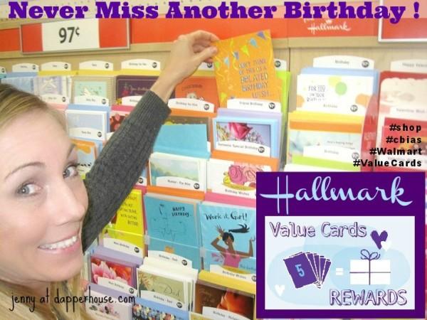 Hallmark Value Birthday Cards Rewards Walmart   organized #ValueCards #shop #cbias