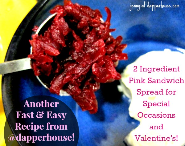 Pink Sandwich Spread Recipe - Easy and Fast Healthy Fun for Valentines Day and Special Occasions 2 ingredients @dapperhouse #recipe