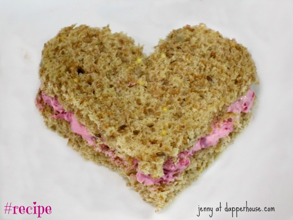 Valentines day girl baby shower tea time birthday fancy party pink finger sandwiches #recipe @dapperhouse