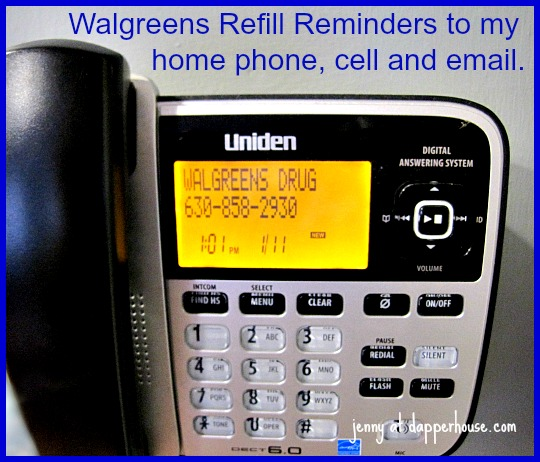 Walgreens Refil Reminders to my home phone, cell and email #WalgreensRx #shop #cbias