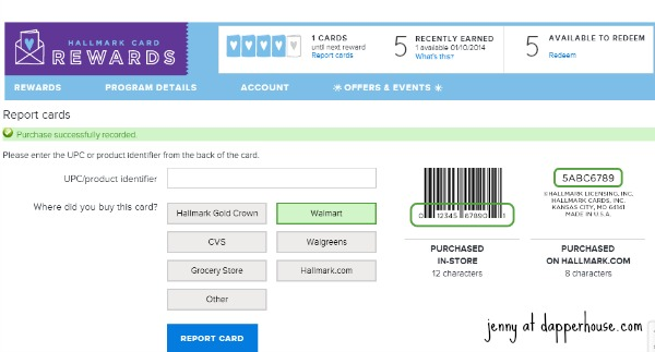 screen shot #ValueCards #shop #cbias hallmark cards rewards website