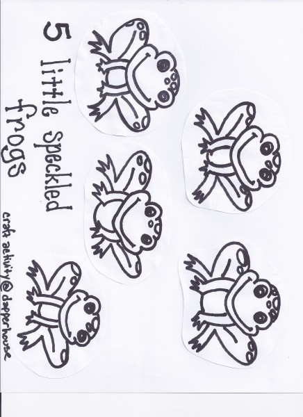 5 little speckled frogs activity craft free printable @dapperhouse