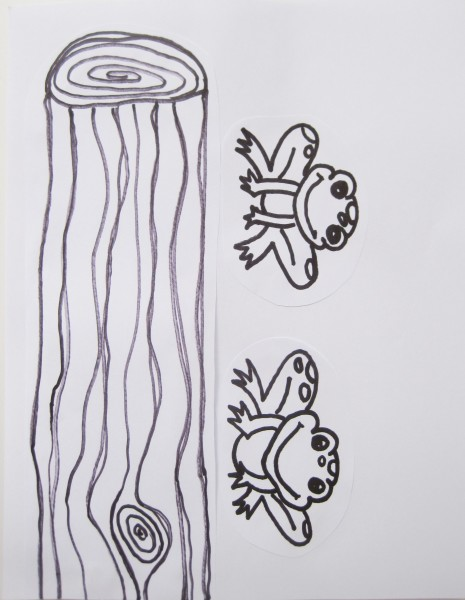 5 little speckled frogs sitting on a wooden log 1 of 2 free printables craft activity @dapperhouse