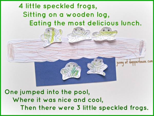 DIY frog counting song craft and activity with free printables @dapperhouse