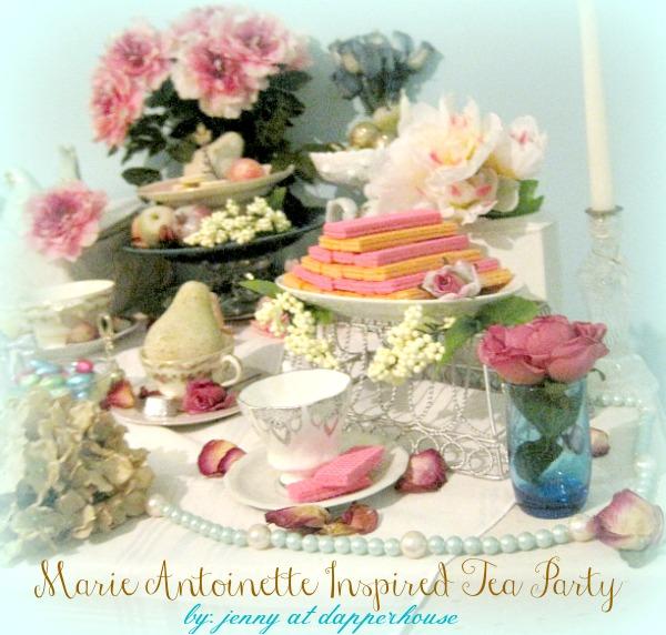 Marie Antoinette Inspired Tea Party DIY @dapperhouse turquoise pink glod white rich elegant