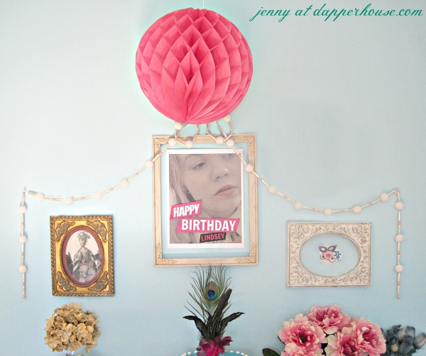 Marie Antoinette inspired birthday party wall decor DIY and free printables from jenny @dapperhouse