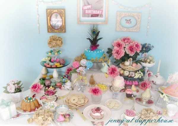 afternoon tea party inspried by Marie Antoinette @dapperhouse with frost