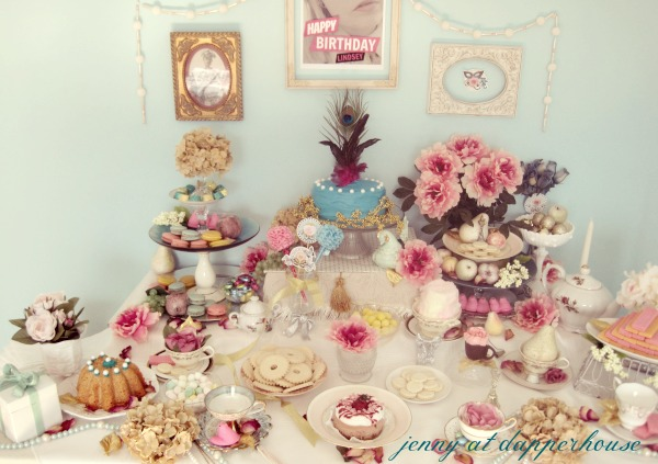 afternoon tea party inspried by Marie Antoinette @dapperhouse with rapture