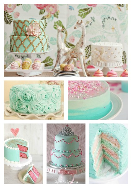 ;et them eat cake @dapperhouse Turquoise Pink White Marie Antoinette Inspired Tea Party