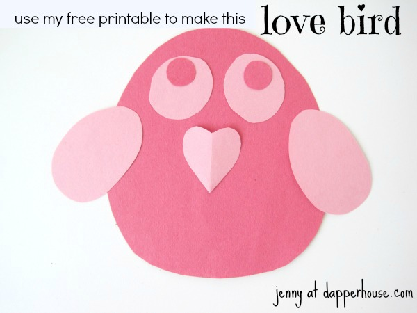 Easy Valentine S Day Bird Craft With Free Printables