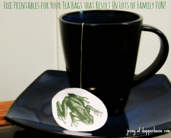 free printables for cool tea bag decor for family fun and office gossip @dapperhouse