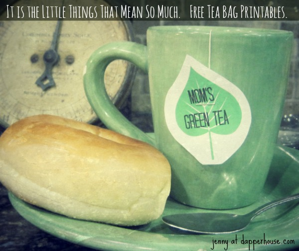 free printables for tea bag adornment @dapperhouse cool designs for everyone Green Tea