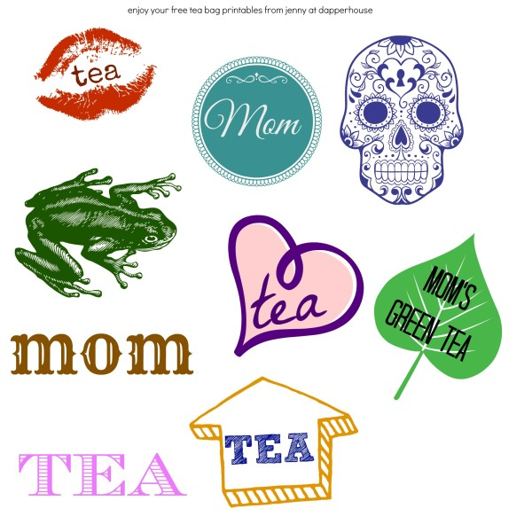 free printables to stick to your tea bag for a bit of fun and a conversation starter @dapperhouse