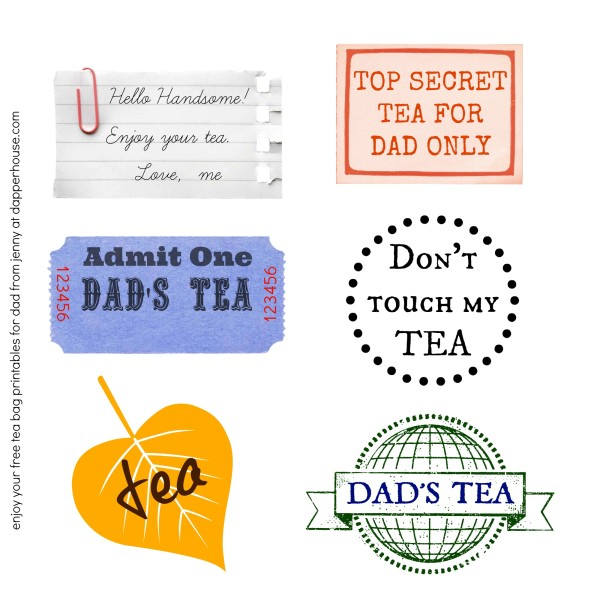 free tea bag printables for him dad husband @dapperhouse be a supermom