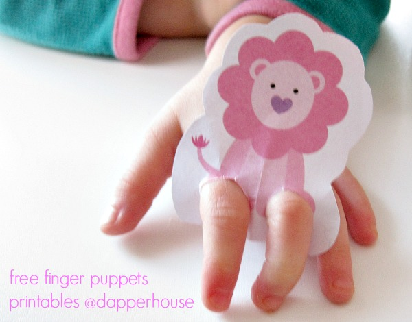 make these fun printable finger puppets for free @dapperhouse