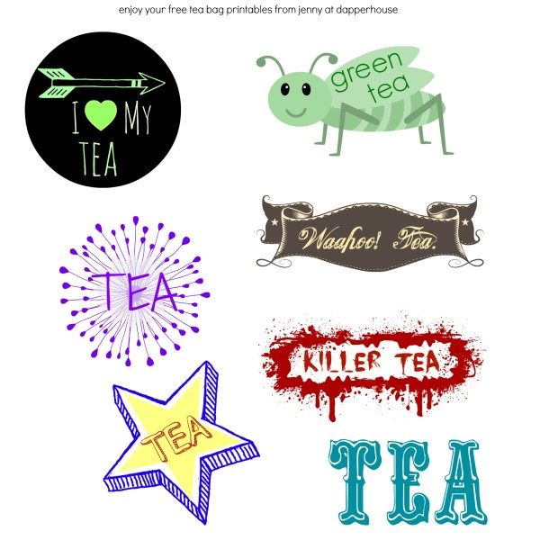 tea bag printables cool fonts design free @dapperhouse