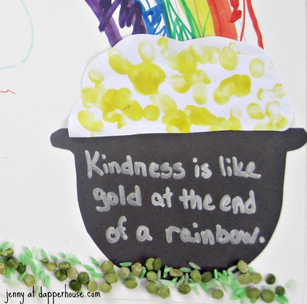Kindness is like the gold at the end of the rainbow Craft and Activity @dapperhouse