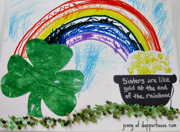 Multi media St Patrick's Day Themed Art lessons and craft activity tutorial for kids @dapperhouse