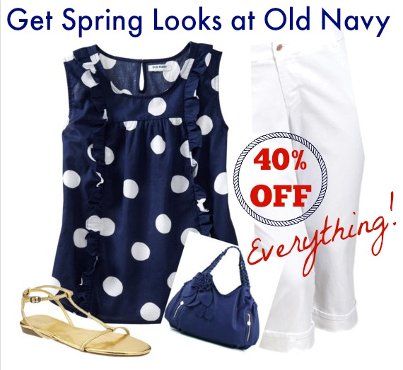 Old Navy Spring Style Get this outfit and more for 40 off Everything with this coupon
