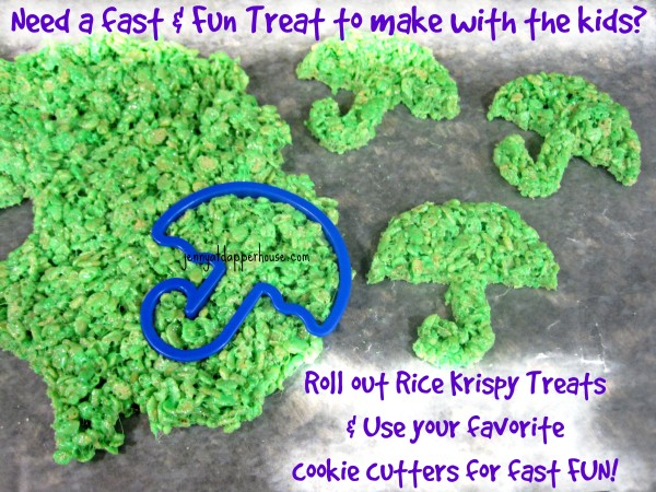 Use cookie cutters and rice krispy treats for fast fun treats with the kids @dapperhouse