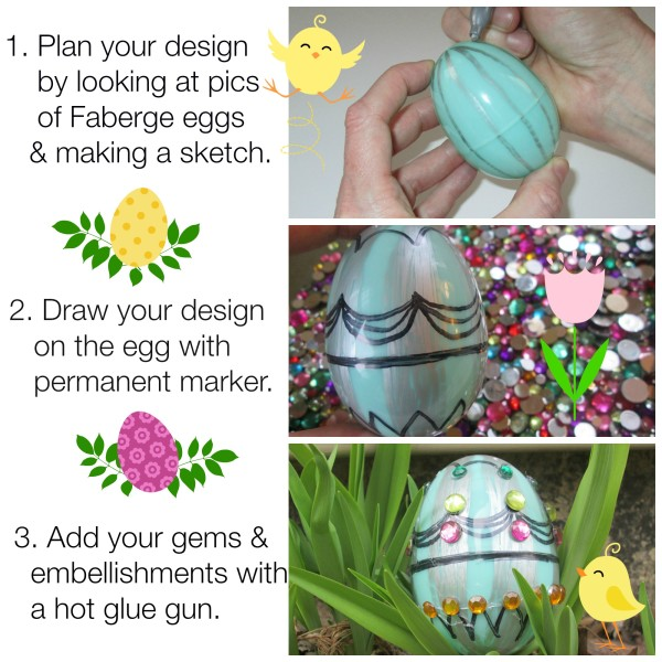 DIY Faberge Inspired Ester Egg Tutorial @dapperhouse