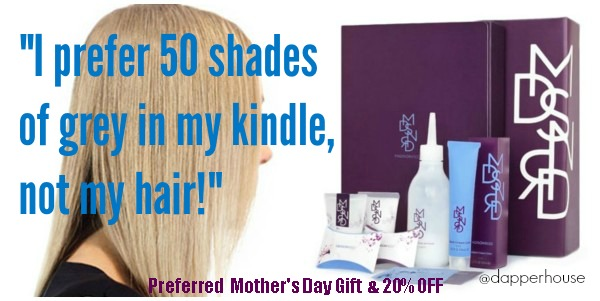 I prefer 50 shades of grey in my kindle not my hair. Buy Madison Reed Home Salon Experience for MOM @dapperhouse