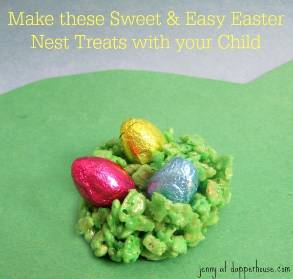 Make these sweet and easy Easter nest trests with your child today @dapperhouse