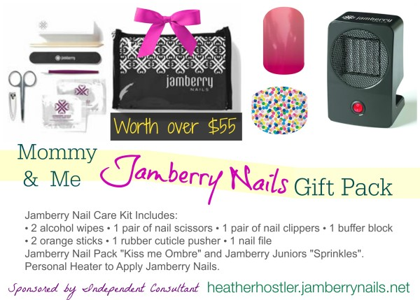 Mommy and Me Jamberry Nails Gift Pack worth $55 #maymamas  heatherhostler.jamberrynails.net @dapperhous giveaway hop