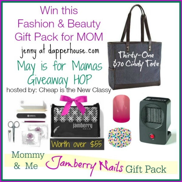 Win this Fashion and Beauty Gift pack for Mom #maymamas @dapperhouse Giveaway Hop