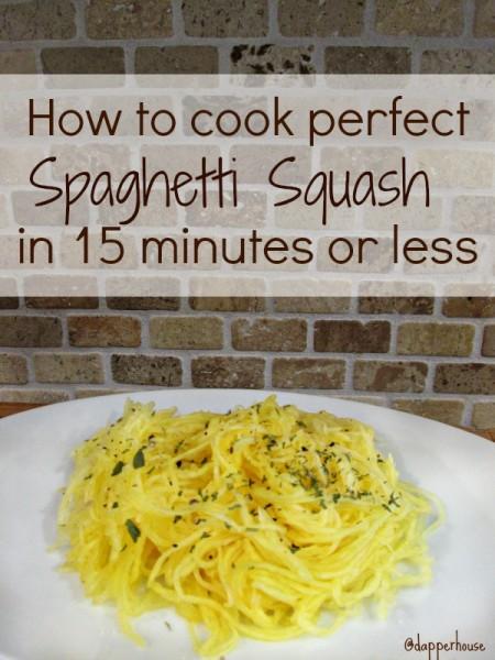 how to make perfect spaghetti squash