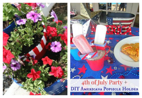 4th of July decor for garden parties @dapperhouse Round Up